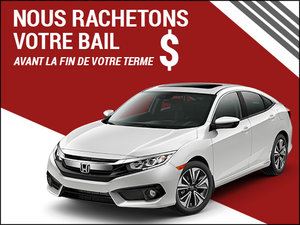 Nous rachetons votre bail à l'achat d'un Honda neuf! chez Avantage Honda à Shawinigan