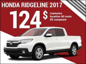 Le nouveau Honda Ridgeline 2017 à 124$ par semaine chez Avantage Honda à Shawinigan