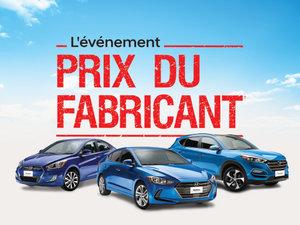 FAITES VITE! C'est l'événement PRIX DU FABRICANT sur les Hyundai neufs! chez Hyundai Trois-Rivières à Trois-Rivières