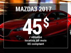 Roulez en Mazda3 GX 2017 à partir de 45$ / semaine chez Prestige Mazda à Shawinigan
