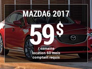 Roulez en Mazda6 GX 2017 à partir de 59$ / semaine chez Prestige Mazda à Shawinigan