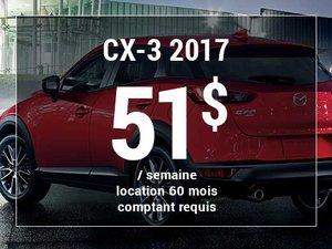 Mazda CX-3 2017 à partir de 51$/sem. chez Prestige Mazda à Shawinigan