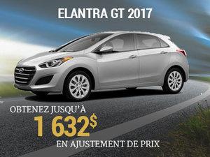 Jusqu'à 1 632$ en ajustement de prix pour l'Elantra GT 2017 chez Hyundai Trois-Rivières à Trois-Rivières