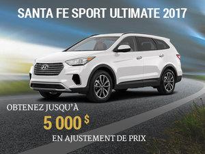 Obtenez jusqu'à 5 000$ en ajustement de prix sur le Santa fe Sport 2017 chez Hyundai Trois-Rivières à Trois-Rivières