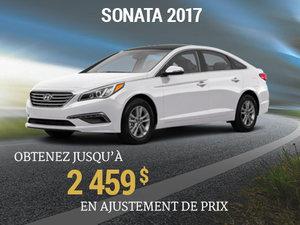 Obtenez jusqu'à 2 459$ en ajustement de prix sur le Sonata 2017 chez Hyundai Trois-Rivières à Trois-Rivières