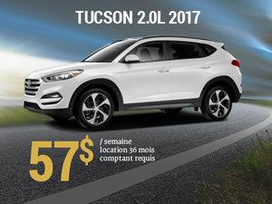 Offrez vous le nouveau Hyundai Tucson 2017 pour 57$/sem. chez Hyundai Trois-Rivières à Trois-Rivières