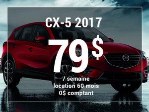 Un Mazda CX-5 2017 à partir de 79$ par semaine chez Prestige Mazda à Shawinigan