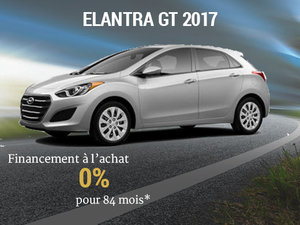 Un financement à l'achat de 0% sur la Hyundai Elantra GT 2017 chez Groupe Vincent à Shawinigan et Trois-Rivières
