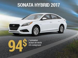 Roulez en Hyundai Sonata Hybrid 2017 pour 94$ / semaine chez Groupe Vincent à Shawinigan et Trois-Rivières
