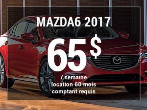 Roulez en Mazda6 GX 2017 à partir de 65$ / semaine chez Groupe Vincent à Shawinigan et Trois-Rivières