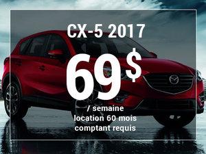 Un Mazda CX-5 2017 à partir de 69$ par semaine chez Groupe Vincent à Shawinigan et Trois-Rivières