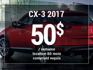 Mazda CX-3 2017 à partir de 50$/sem chez Groupe Vincent à Shawinigan et Trois-Rivières