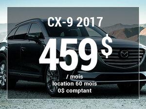 Un Mazda CX-9 2017 à partir de 459$ par mois chez Groupe Vincent à Shawinigan et Trois-Rivières