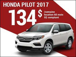 Le nouveau Honda Pilot 2017 à 134$ par semaine chez Avantage Honda à Shawinigan