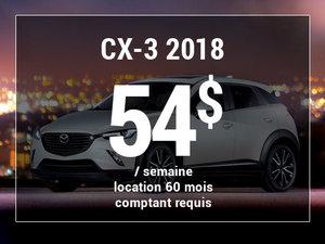 Roulez en Mazda CX-3 2018 à partir de 54$/sem chez Prestige Mazda à Shawinigan