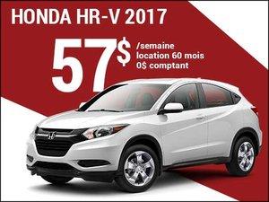 57$ par semaine pour rouler en Honda HR-V 2017 chez Avantage Honda à Shawinigan