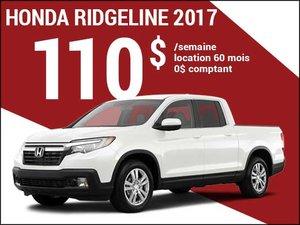 Le nouveau Honda Ridgeline 2017 à 110$ par semaine chez Avantage Honda à Shawinigan