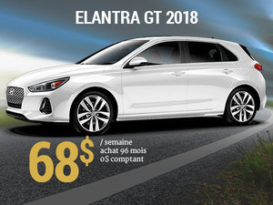 Roulez en Hyundai Elantra GT 2018 pour 68$/sem. chez Groupe Vincent à Shawinigan et Trois-Rivières