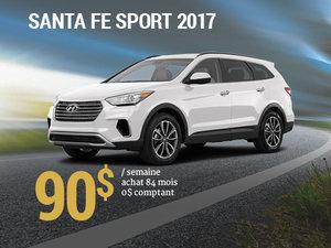 Seulement 90$/semaine pour un Hyundai Santa Fe Sport 2017 chez Groupe Vincent à Shawinigan et Trois-Rivières