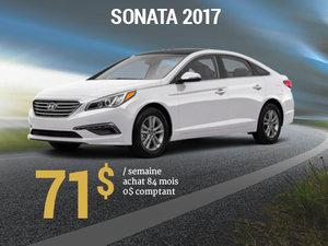 Seulement 71$ / semaine pour rouler en Hyundai Sonata 2017 chez Groupe Vincent à Shawinigan et Trois-Rivières