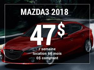 Roulez en Mazda3 2018 à partir de 47$ / semaine chez Groupe Vincent à Shawinigan et Trois-Rivières