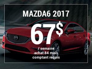Roulez en Mazda6 GX 2017 à partir de 67$ / semaine chez Groupe Vincent à Shawinigan et Trois-Rivières