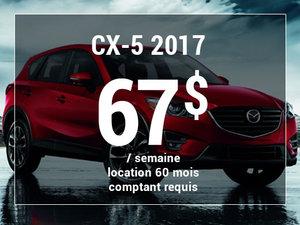 Un Mazda CX-5 2017 à partir de 67$ par semaine chez Groupe Vincent à Shawinigan et Trois-Rivières
