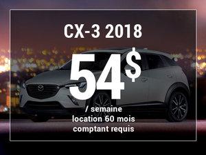 Roulez en Mazda CX-3 2018 à partir de 54$/sem chez Groupe Vincent à Shawinigan et Trois-Rivières