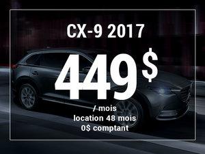Un Mazda CX-9 2017 à partir de 449$ par mois chez Groupe Vincent à Shawinigan et Trois-Rivières