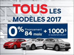 0% FINANCEMENT 84 MOIS + jusqu'à 1000$ en ajustement de prix! chez Hyundai Trois-Rivières à Trois-Rivières