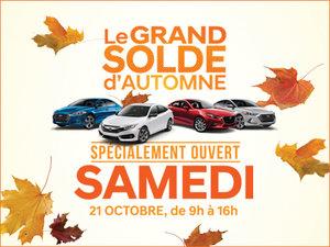 GRAND SOLDE D'AUTOMNE GROUPE VINCENT chez Hyundai Trois-Rivières à Trois-Rivières