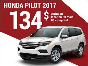 Le Honda Pilot 2017 à 134$ par semaine chez Avantage Honda à Shawinigan