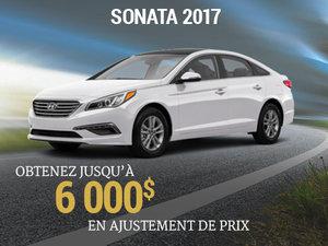 6 000$ en ajustement de prix pour rouler en Hyundai Sonata 2017 chez Hyundai Trois-Rivières à Trois-Rivières