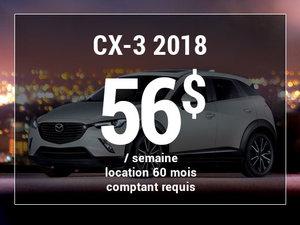Roulez en Mazda CX-3 2018 à partir de 56$/sem chez Prestige Mazda à Shawinigan