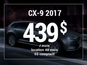 Un Mazda CX-9 2017 à partir de 439$ par mois chez Prestige Mazda à Shawinigan