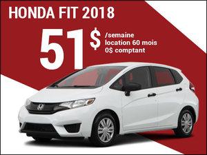 Une Honda Fit 2018 pour 51$ par semaine (Copie) chez Avantage Honda à Shawinigan