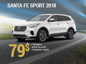 Seulement 79$/semaine pour un Hyundai Santa Fe Sport 2018 chez Hyundai Trois-Rivières à Trois-Rivières