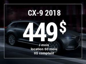 Un Mazda CX-9 2018 à partir de 449$ par mois chez Prestige Mazda à Shawinigan