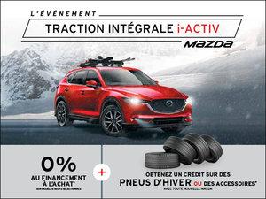 C'est l'événement traction intégrale i-ACTIV Mazda chez Prestige Mazda à Shawinigan