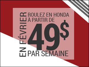 Roulez en Honda à partir de 49$ par semaine chez Avantage Honda à Shawinigan