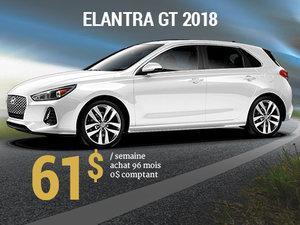 Roulez en Hyundai Elantra GT 2018 pour 61$/sem. chez Hyundai Trois-Rivières à Trois-Rivières