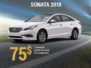 Seulement 75$ / semaine pour rouler en Hyundai Sonata 2018 chez Hyundai Trois-Rivières à Trois-Rivières