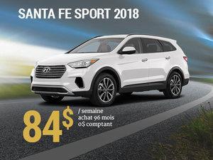 Seulement 84$/semaine pour un Hyundai Santa Fe Sport 2018 chez Hyundai Trois-Rivières à Trois-Rivières