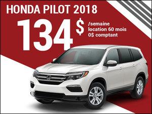 Le Honda Pilot 2018 à 134$ par semaine chez Avantage Honda à Shawinigan