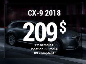 Un Mazda CX-9 2018 à partir de 209$ aux 2 semaines chez Prestige Mazda à Shawinigan