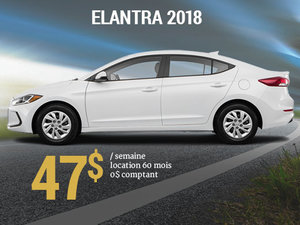 Roulez avec la nouvelle Hyundai Elantra GL 2018 pour seulement 47$/sem chez Hyundai Trois-Rivières à Trois-Rivières