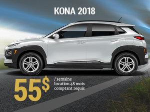 Seulement 55$/semaine pour un Hyundai Kona 2018 chez Hyundai Trois-Rivières à Trois-Rivières