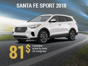 Seulement 81$/semaine pour un Hyundai Santa Fe Sport 2018 chez Hyundai Trois-Rivières à Trois-Rivières