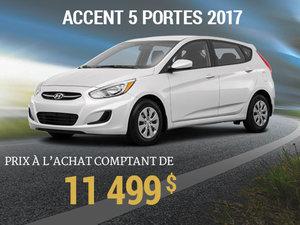 Roulez en Hyundai Accent 5 portes 2017 pour 11 499$ chez Hyundai Trois-Rivières à Trois-Rivières
