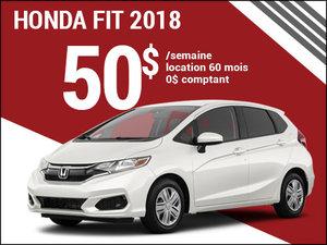 Une Honda Fit 2018 pour 50$ par semaine chez Avantage Honda à Shawinigan